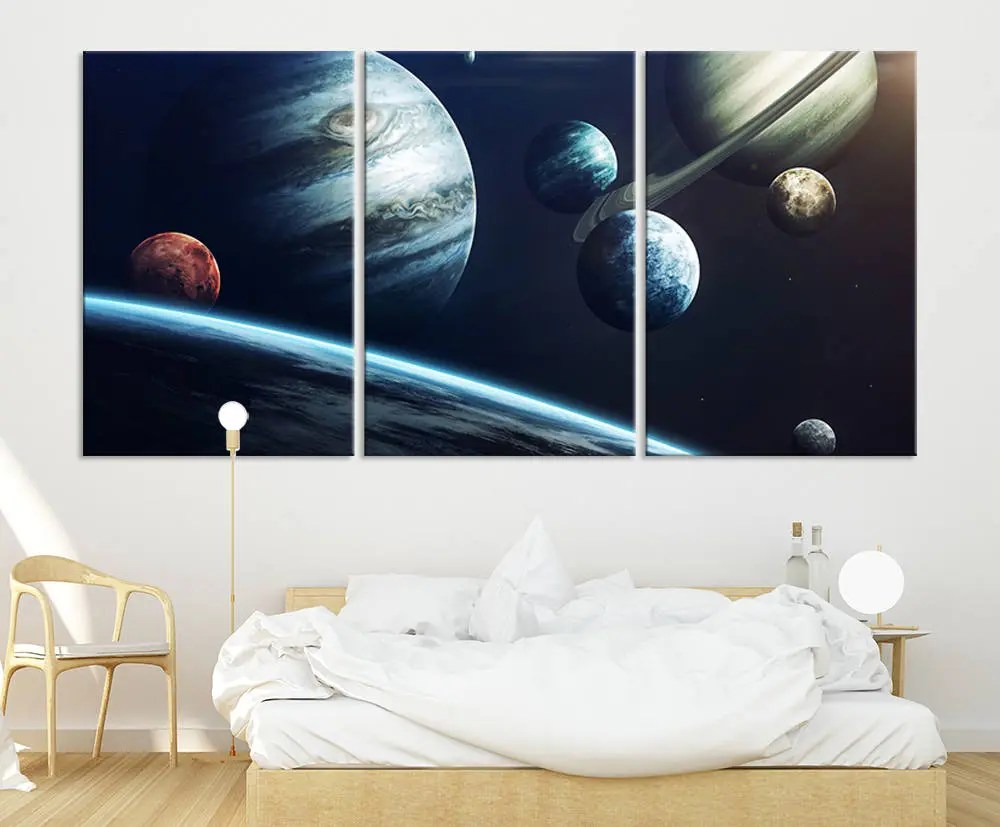 Planets Wall Art Solar System Wall Art Canvas Print Planet Wall Art Space Wall Art Solar Canvas Print Space And Planets Canvas Print Wall Art Planets