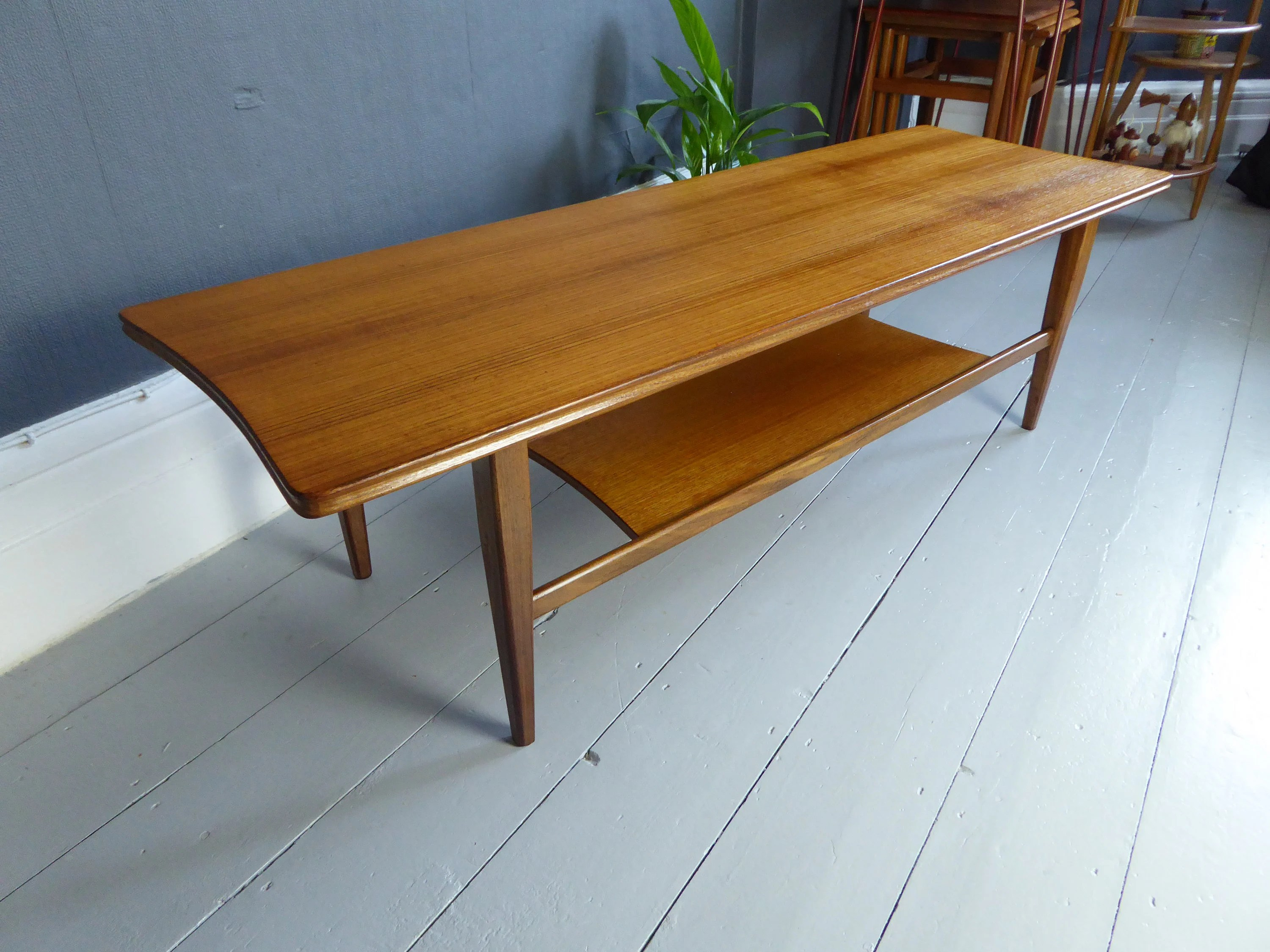 Couchtisch Hornby Vintage Retro Mid Century Richard Hornby For Heals Teak Surfboard Coffee Table Price Reduced