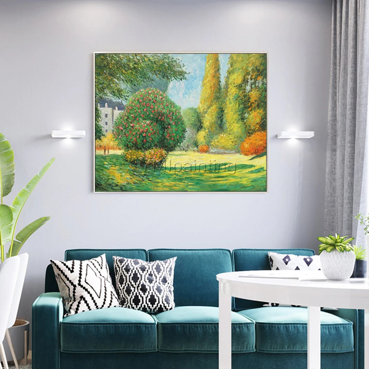 Claude Monet Cuadros Claude Monet Landscape Painting On Canvas Green Texture Oil Painting Wall Pictures Hand Painted Impasto Dinning Room Art Cuadros Abstractos