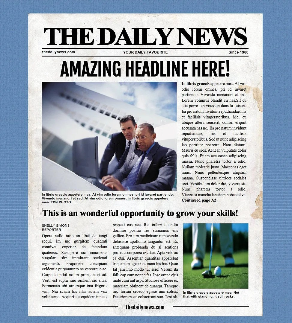 4 Page Newspaper Template Microsoft Word 85x11 inch Etsy