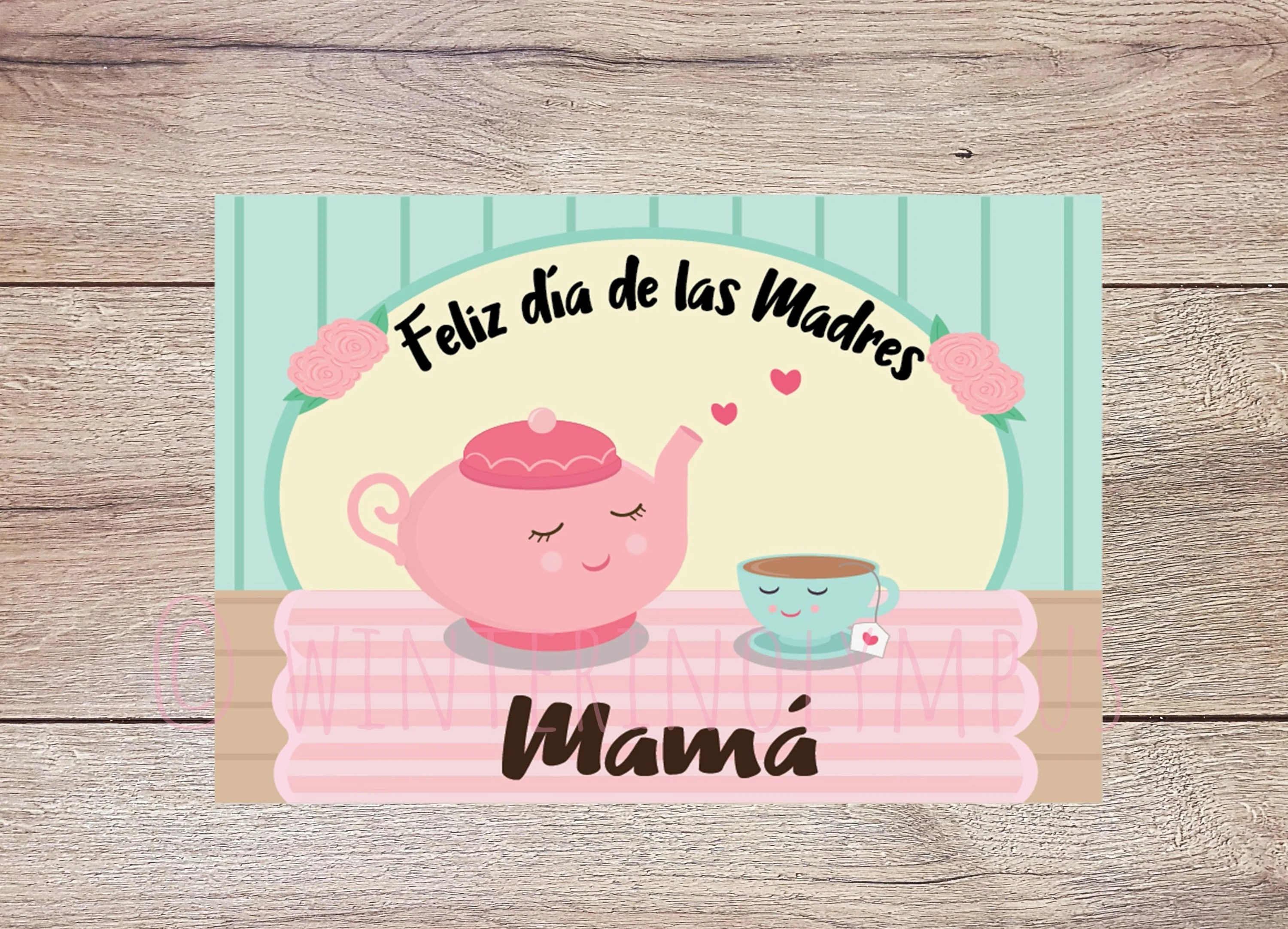 Spanish Mother\u0027s Day Greeting Card Printable for Mom Etsy