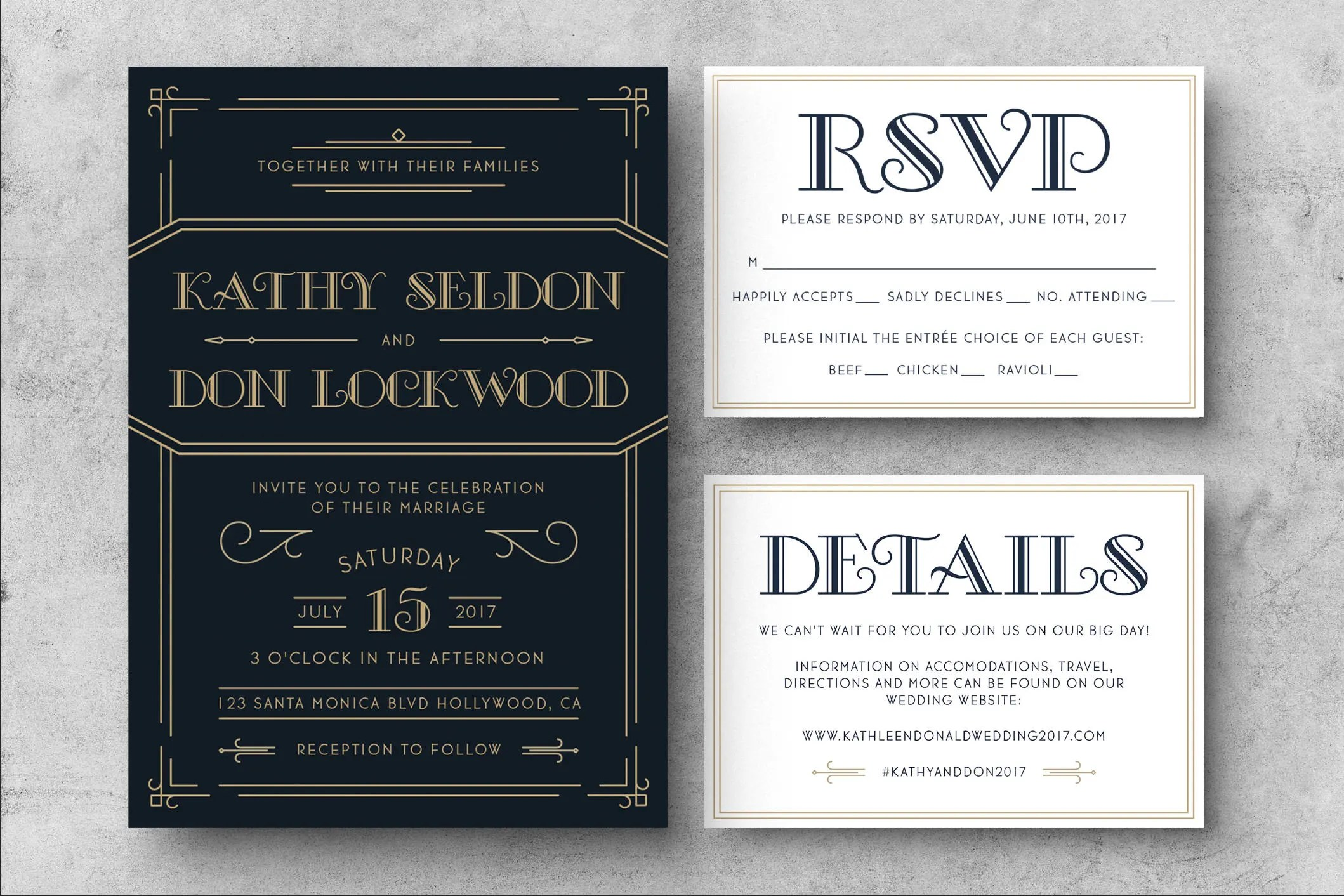 PRINTABLE Art Deco Wedding Invitation Great Gatsby Wedding Etsy