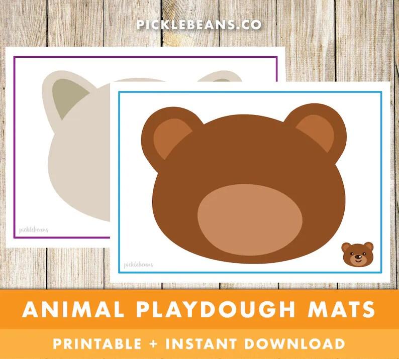 Animal Playdough Mats Preschool Toddler Daycare Kids Etsy
