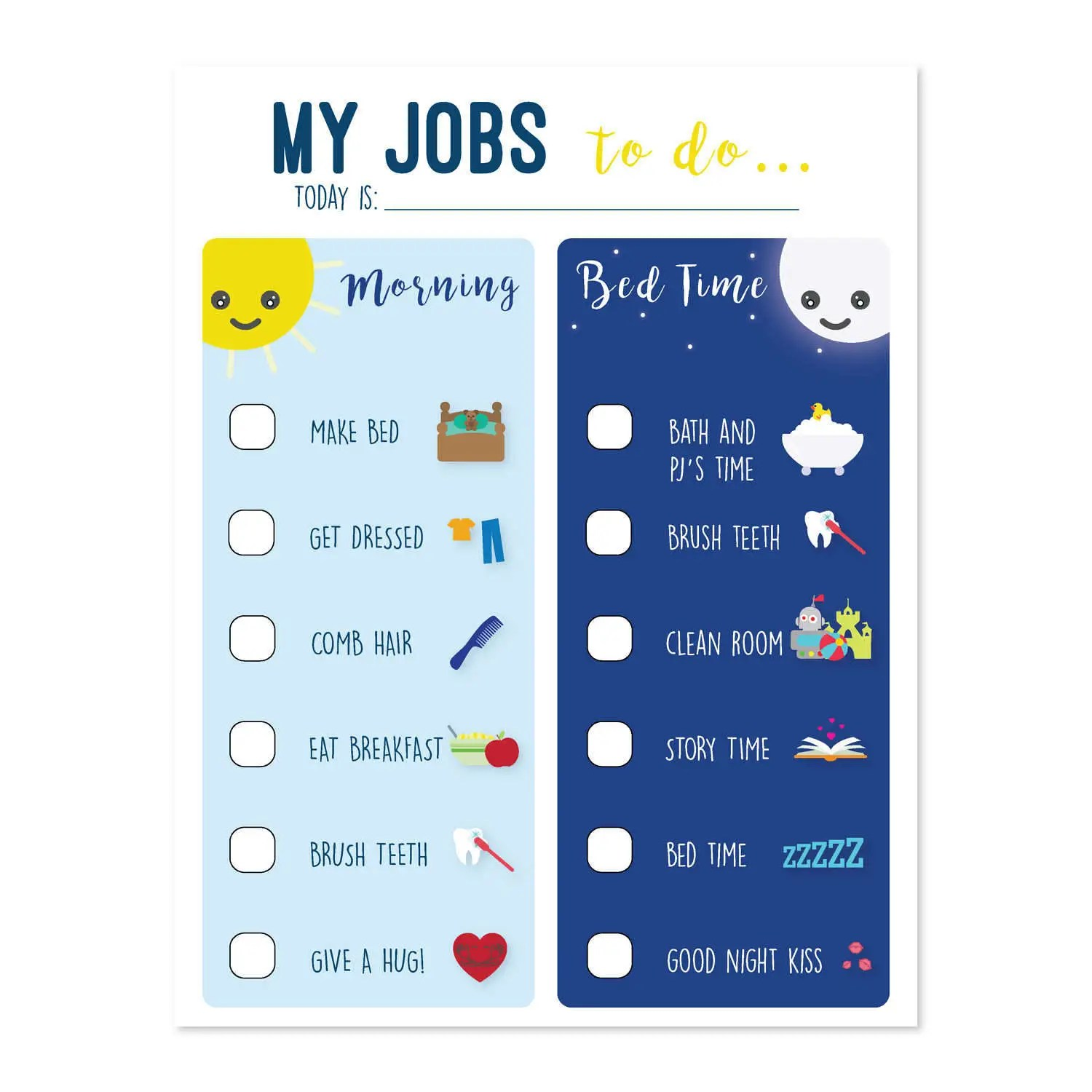 Printable Chore Chart for Kids To do list Morning routine Etsy - kids chart