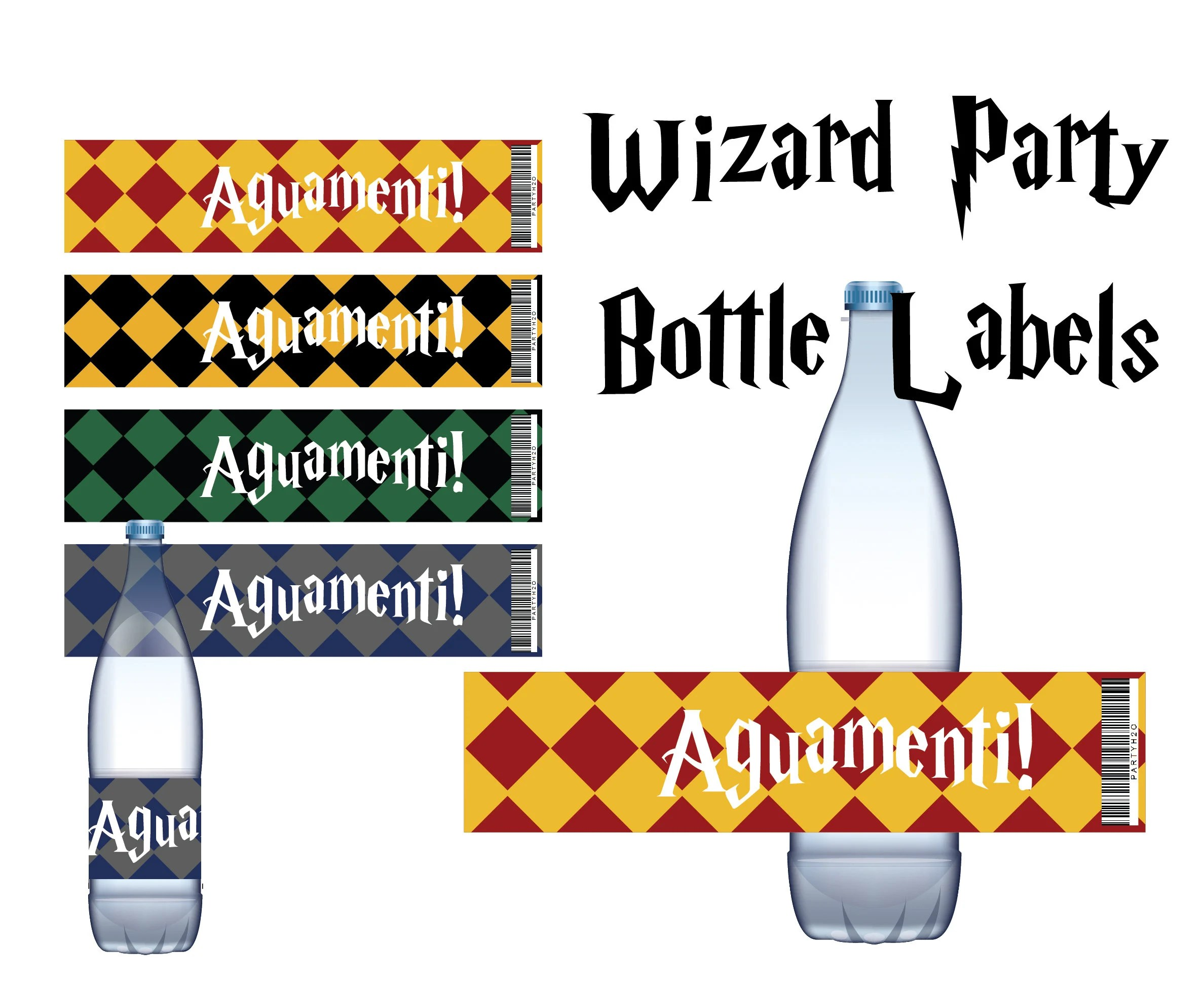 Harry Potter Printable Water Bottle Labels Birthday Party Etsy
