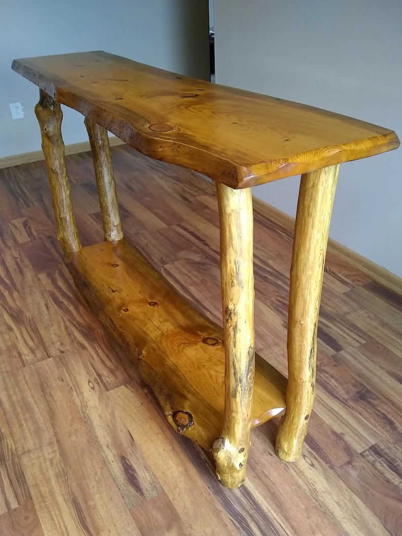 Console Table But Live Edge Console Table Live Edge Sofa Table Live Edge Entryway Table Console Table Hall Way Table Rustic Sofa Tabla Log Sofa Table