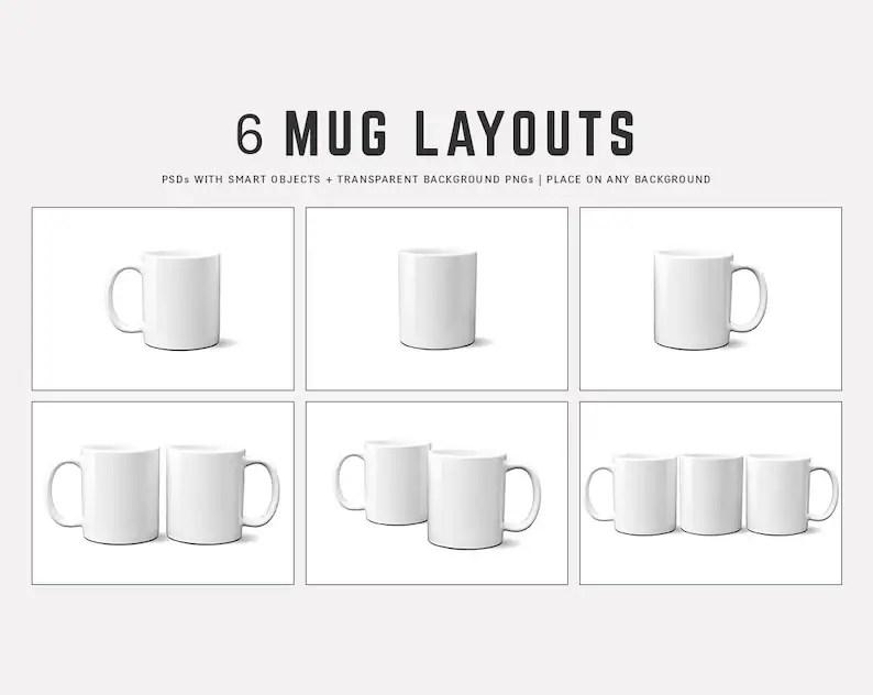 11 oz Full Wrap Mug Mockups Layered PSDs 11oz Coffee Mug Etsy