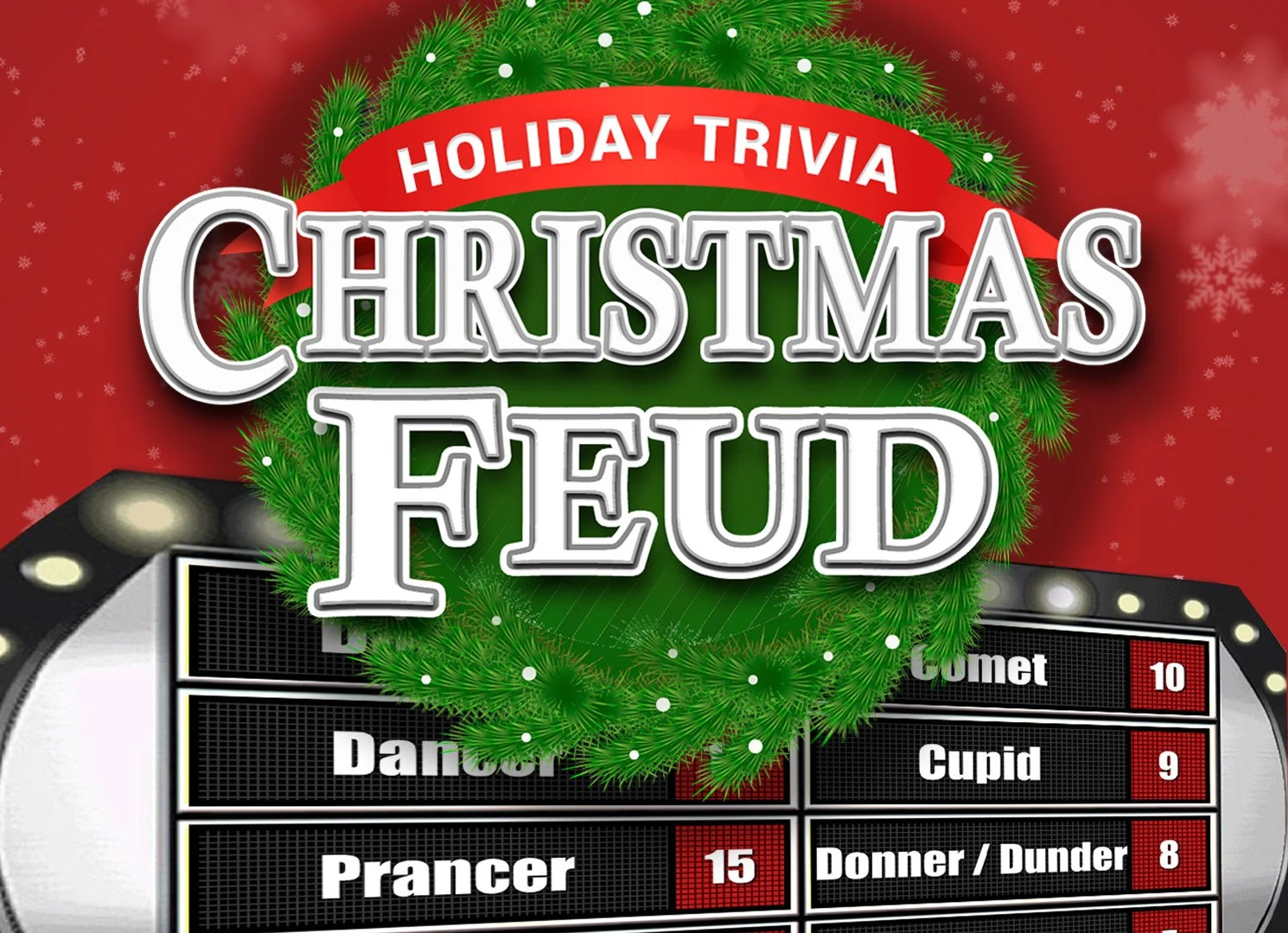 Christmas Feud with Scoreboard Family Feud Trivia Powerpoint Etsy