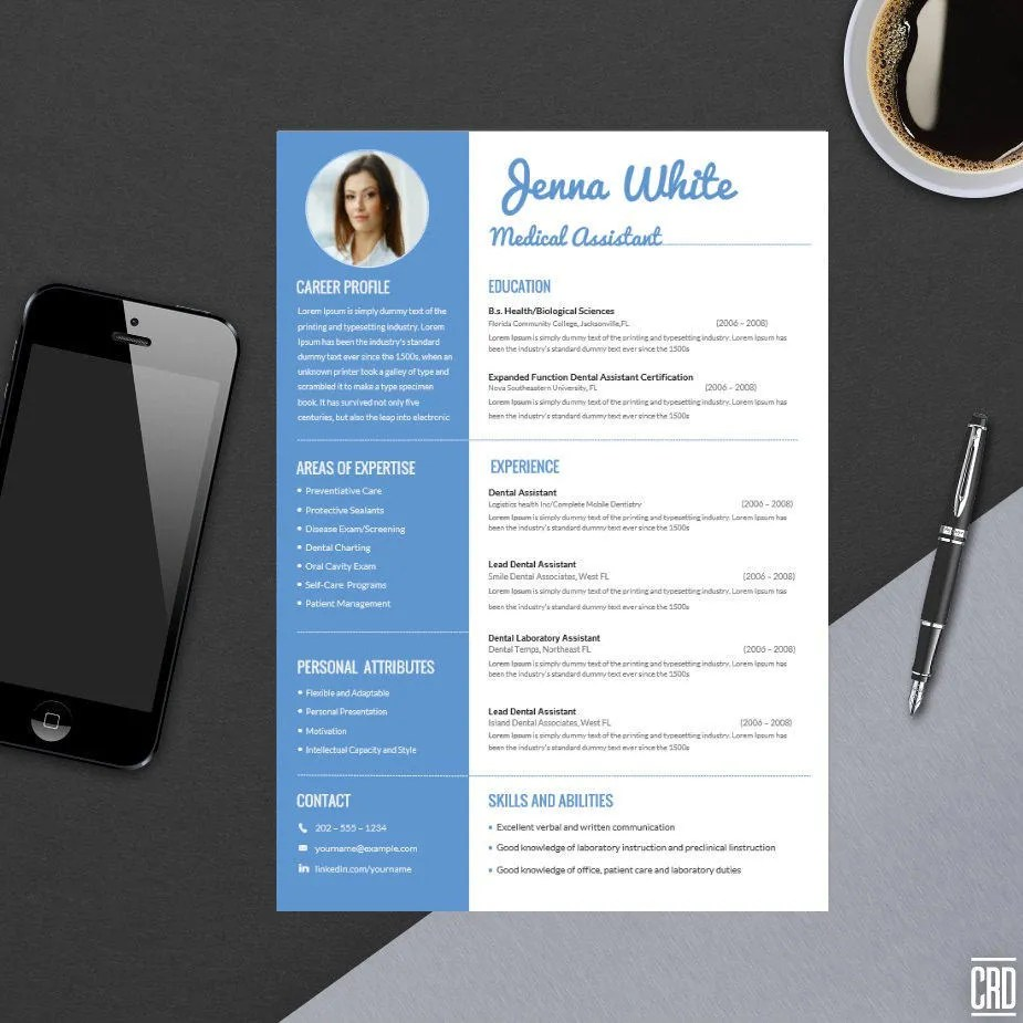 Minimal Professional Resume Template for Word Modern Resume Etsy
