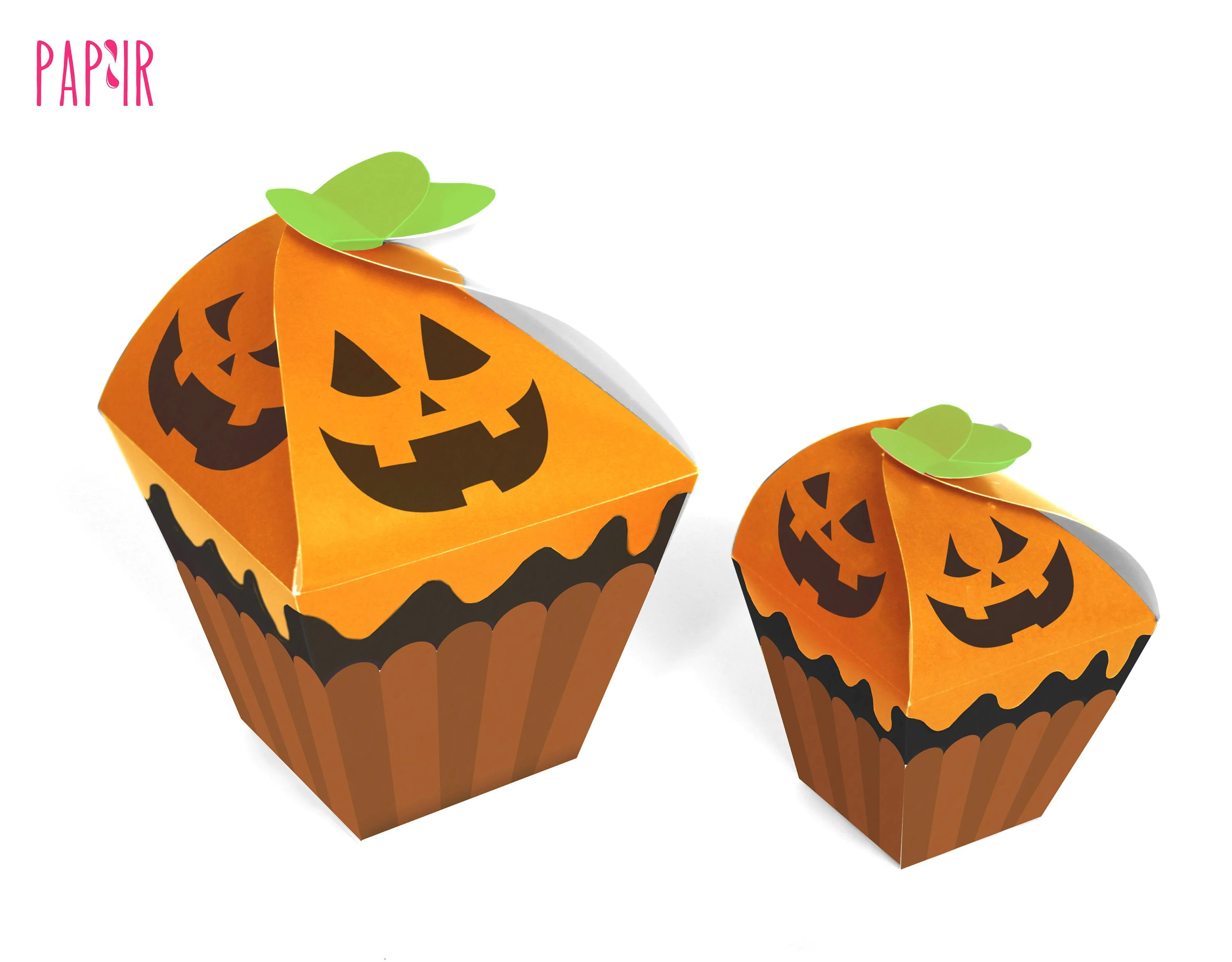 PRINTABLE Halloween Cupcake box perfect for treats or party Etsy