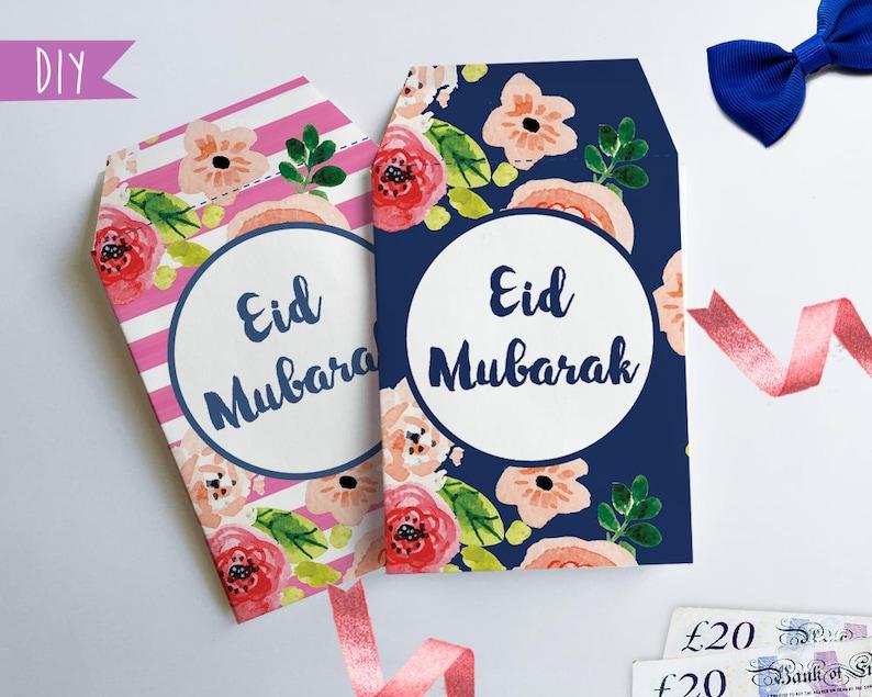 Printable Eid money envelopes Money package envelope DIY Eid Etsy