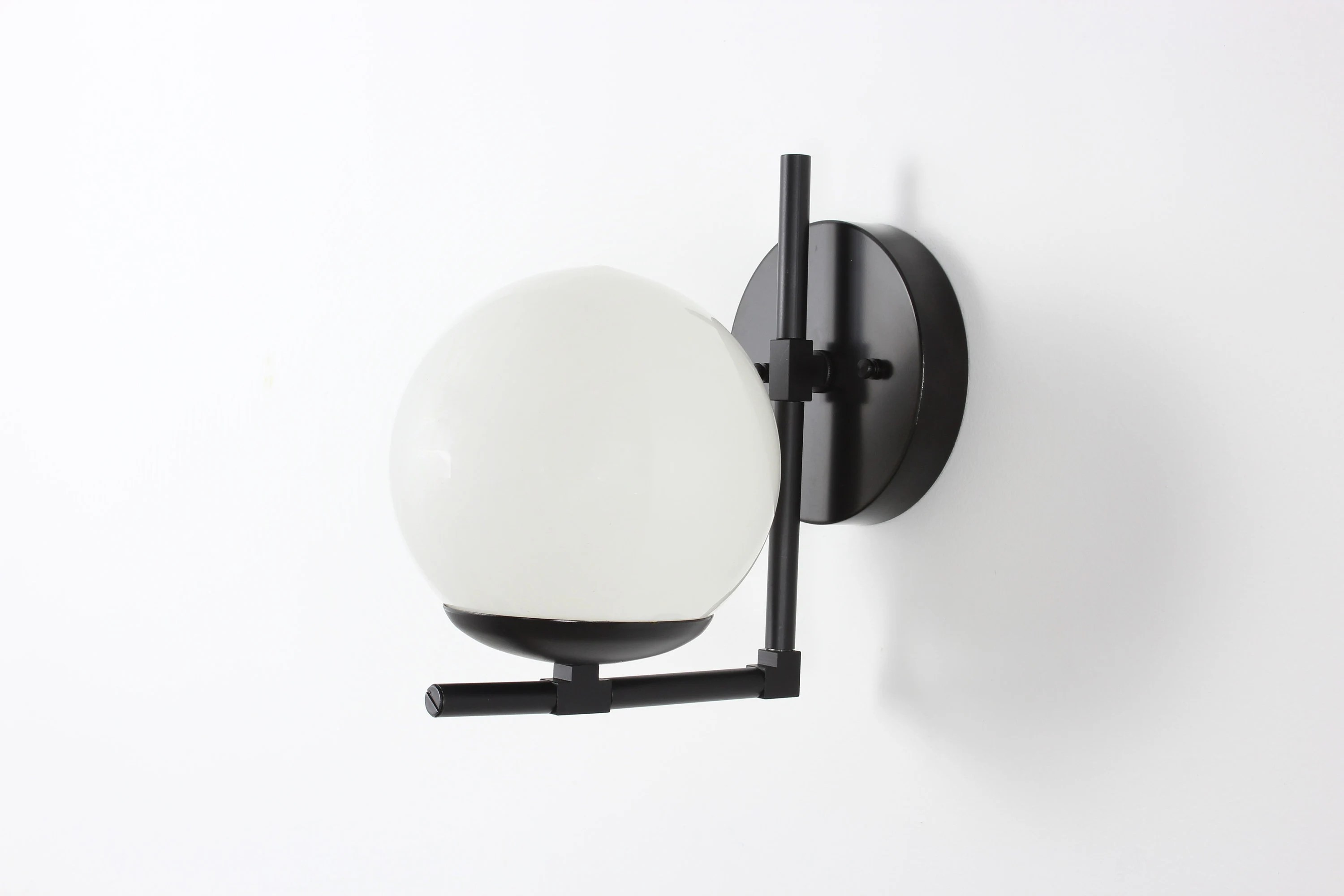 Modern Lighting Quotes Modern Globe Sconce Black Wall Sconce Glass Globe Sconce Mid Century Wall Light Modern Lighting Bathroom Vanity Vanity Lighting