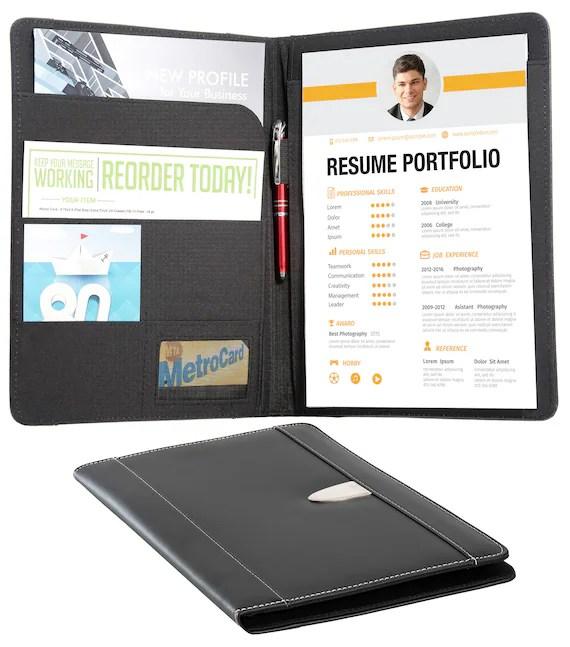 Resume Portfolio Padfolio Genuine Bonded Leather Portfolio - leather resume portfolio