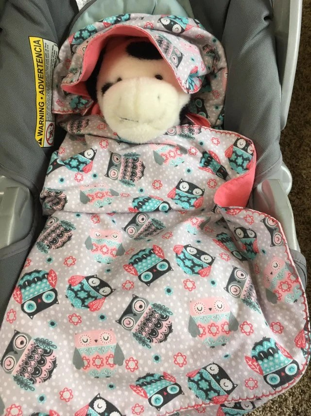 Baby Car Seat Blanket Free Pattern Car Seat Blanket Owls With Shell Pink Inside Arrows With Shell Pink Inside