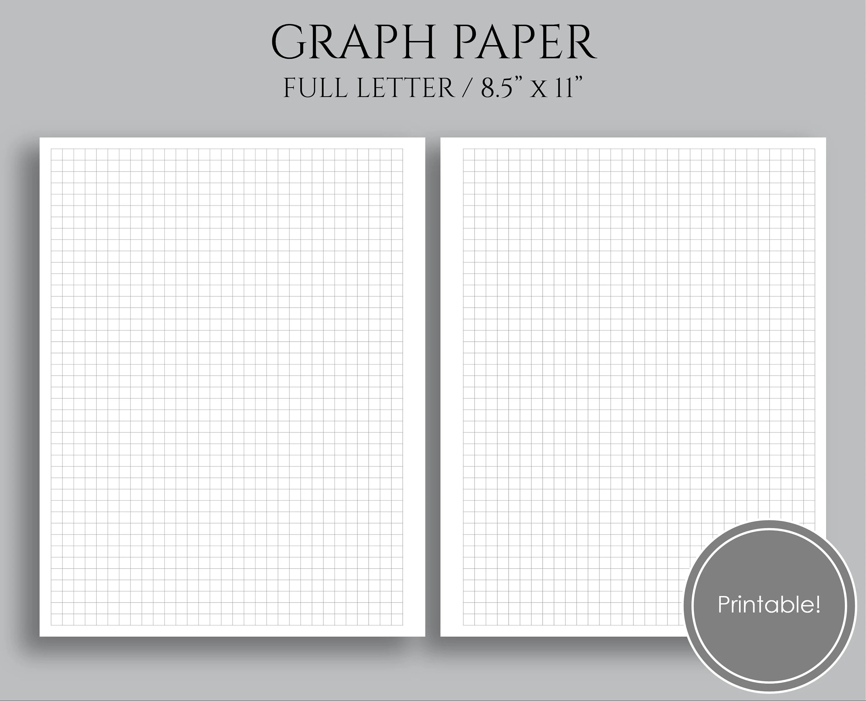 Graph Paper Printable Planner Inserts Square Grid 1/4 Inch Etsy