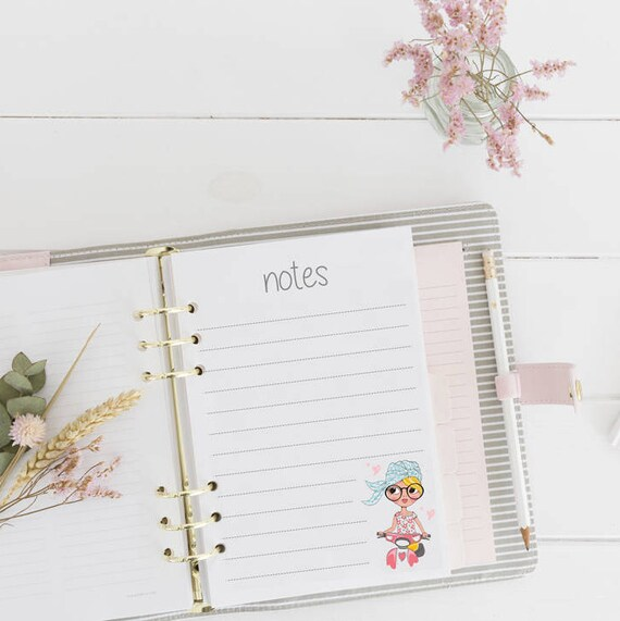 Printable Note Paper Printable Notepad Insert Notepad Etsy