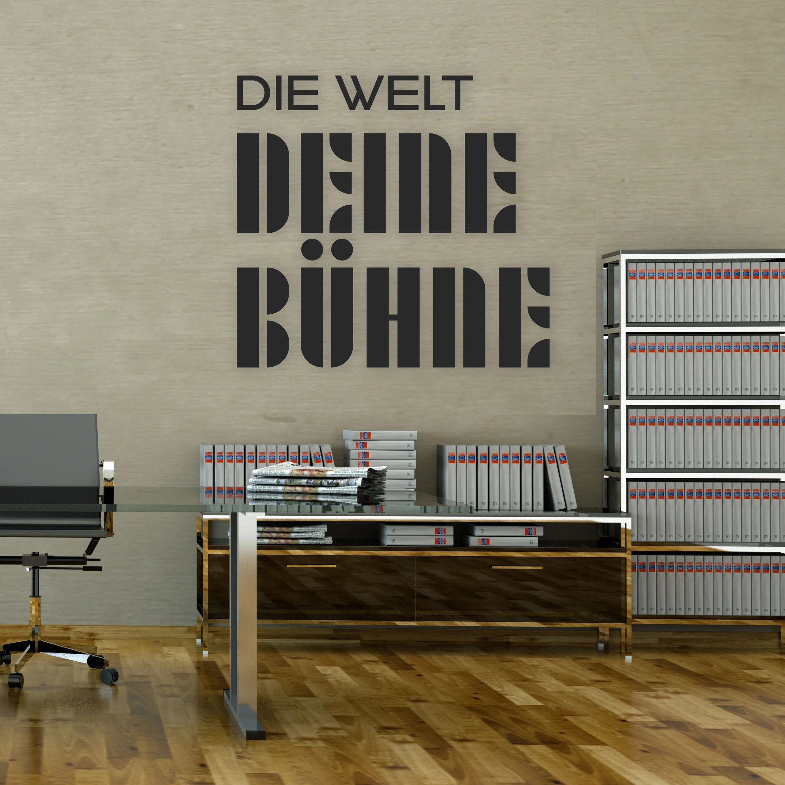 Home Office Feiertage Bauhaus Stil Letters Wood Mdf Black Dyed Through Oiled Writing