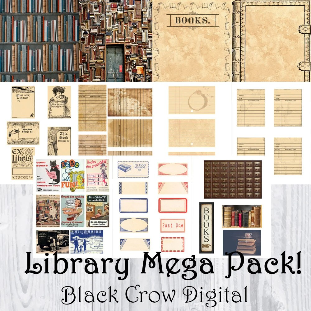 Library Card  More Mega Pack / Blank Library Cards / Book Etsy