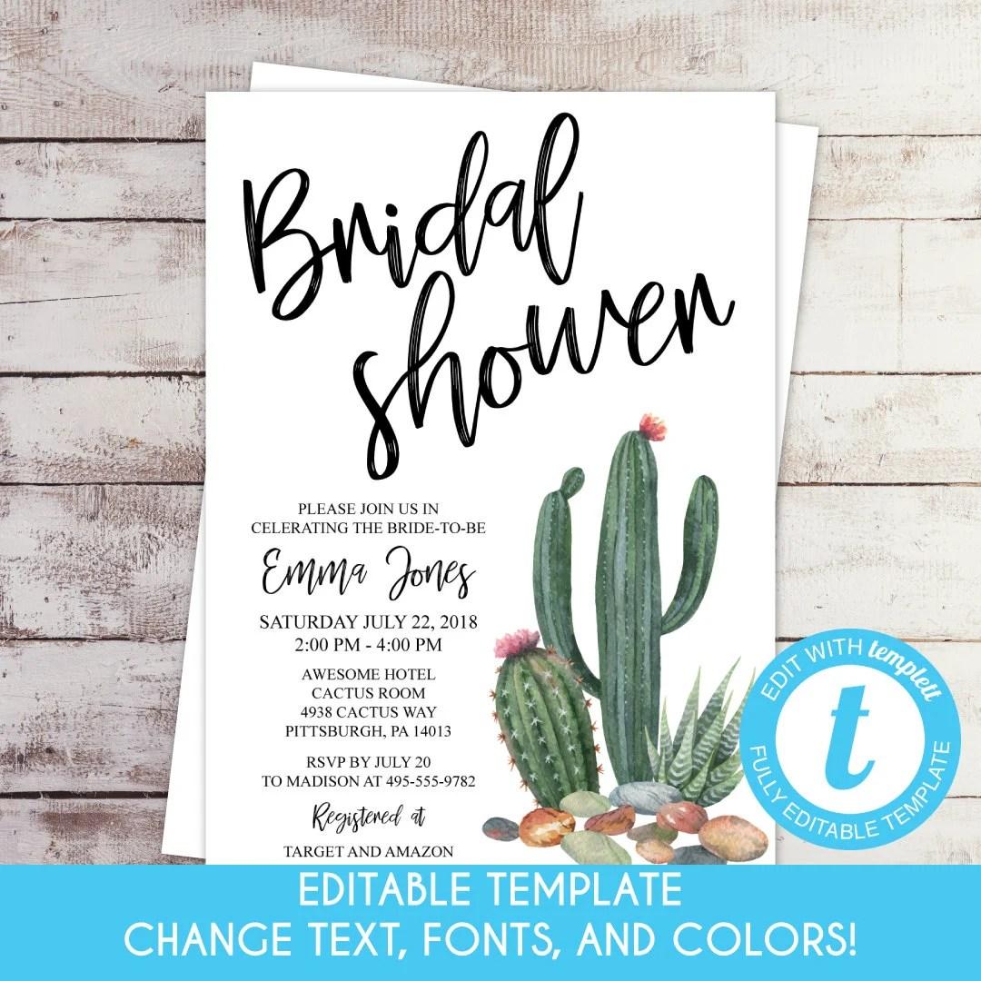 Self-Edit Template Printable Desert Succulent and Cactus Etsy