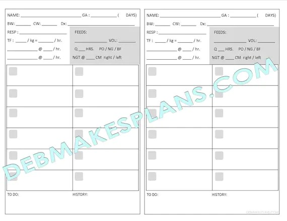 Nurse Assignment Sheet Printable Etsy - printable assignment sheet