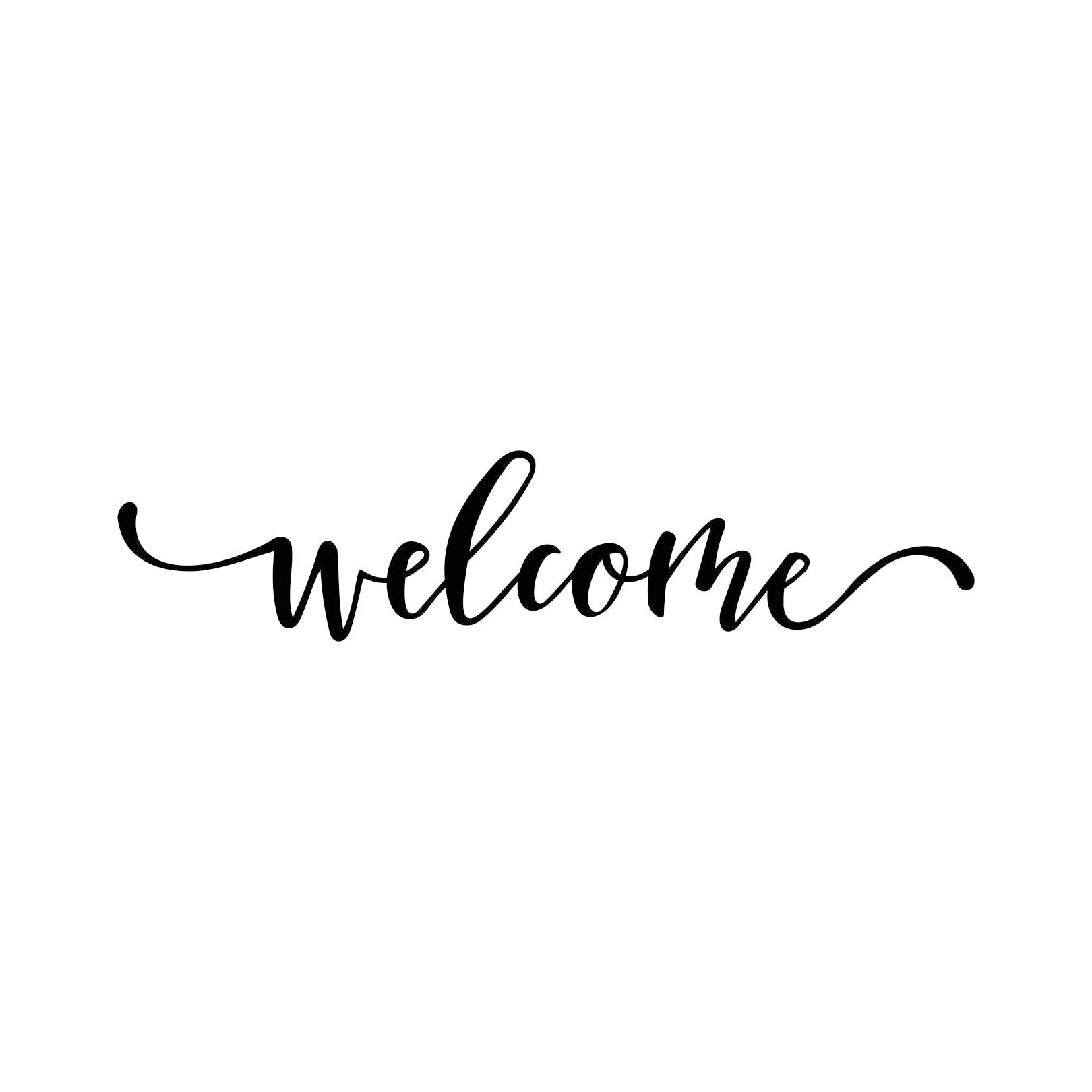 Welcome Word Phrase Graphics SVG Dxf EPS Png Cdr Ai Pdf Vector Etsy