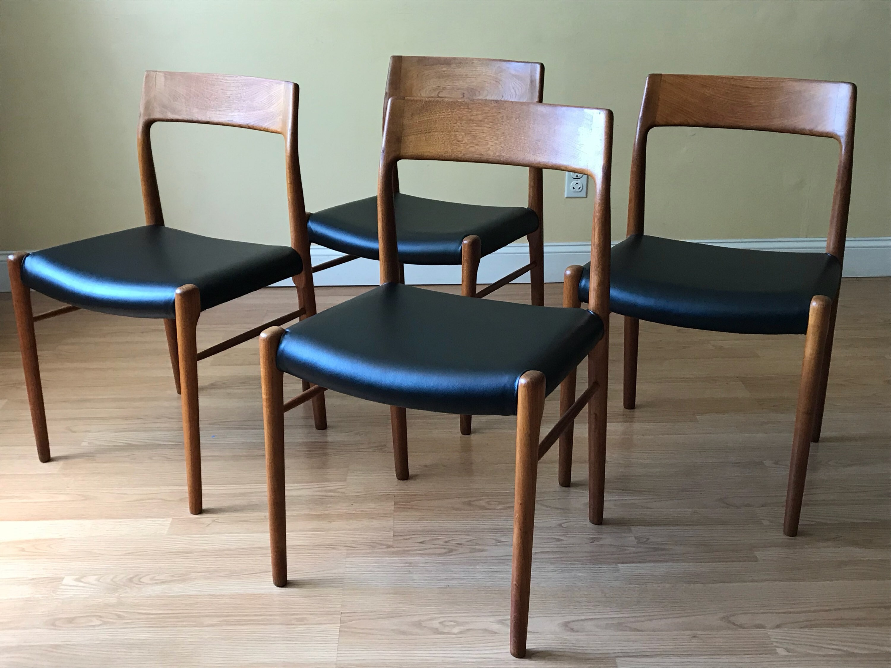 Esszimmermöbel Ebay Set Of Four Danish Teak Dining Chairs