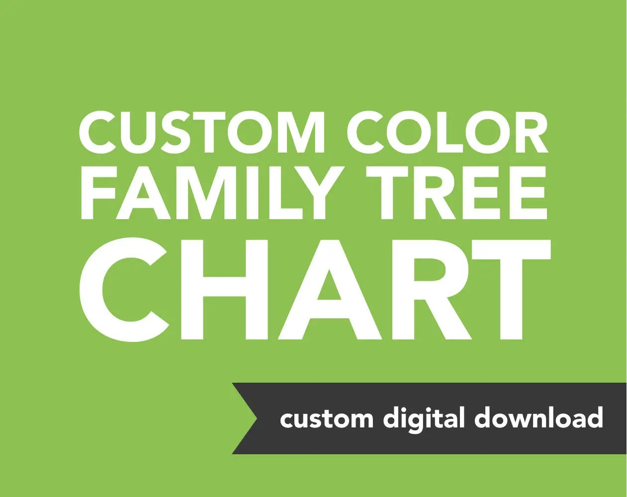 Custom Genealogy Family Tree Chart Custom Colors Etsy
