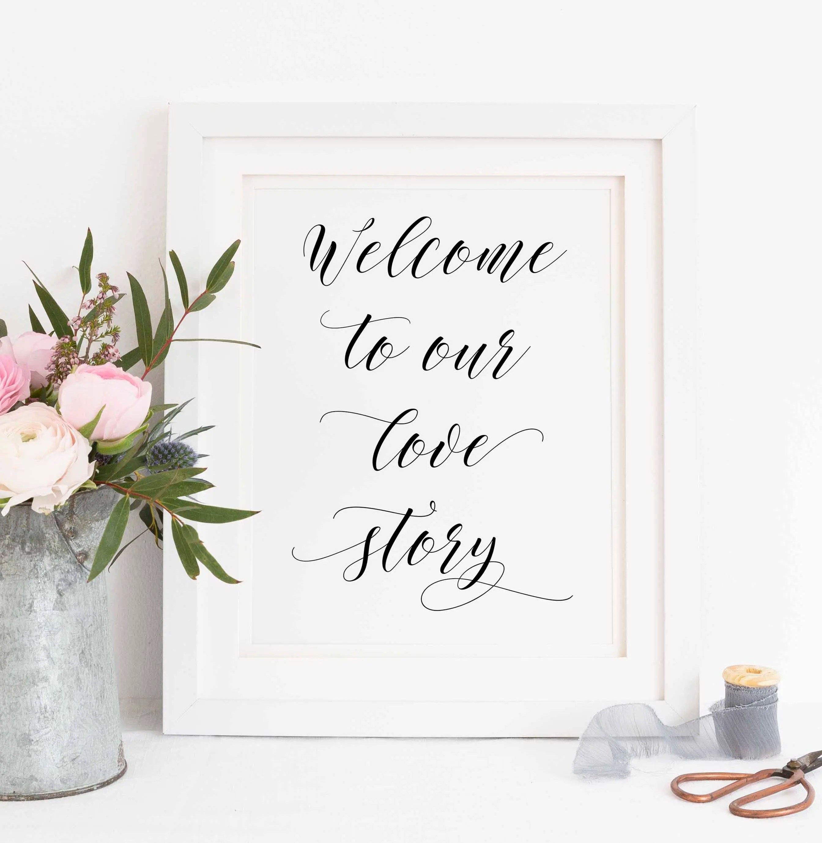 Printable Welcome to our love story sign love story sign Etsy