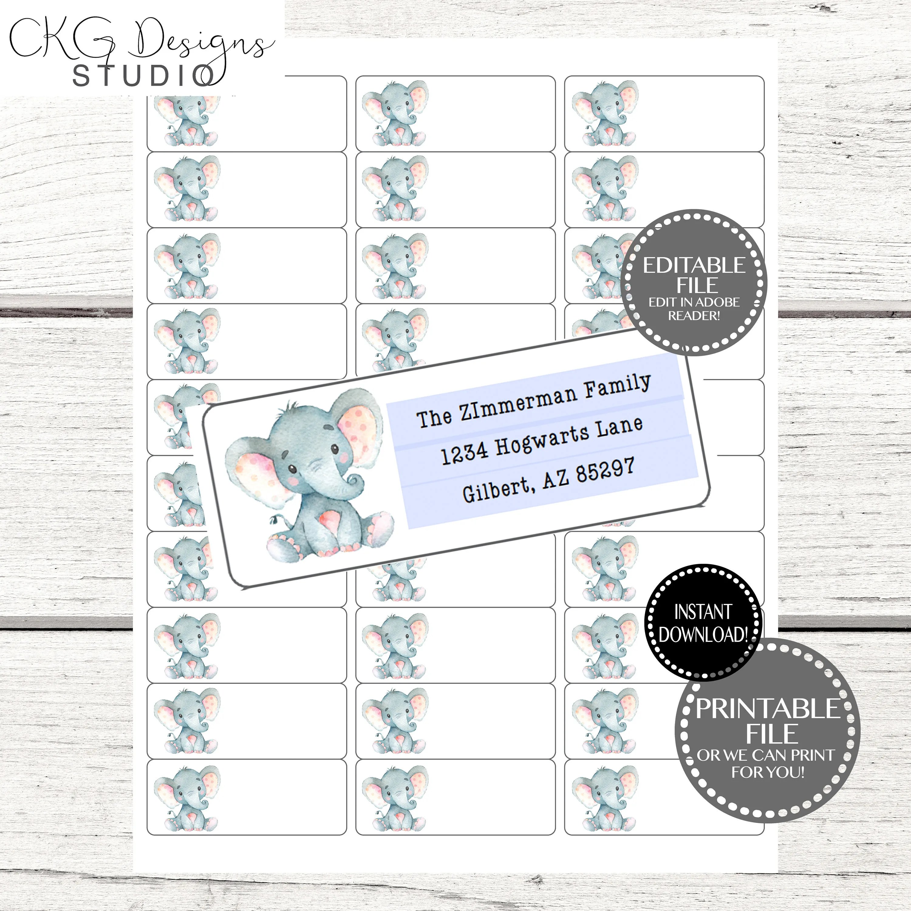 Address Label Template Address Label Instant Download Etsy