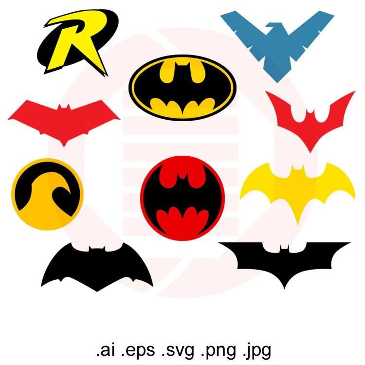 Batman SVG Batman logo superhero symbol cut file cllipart Etsy