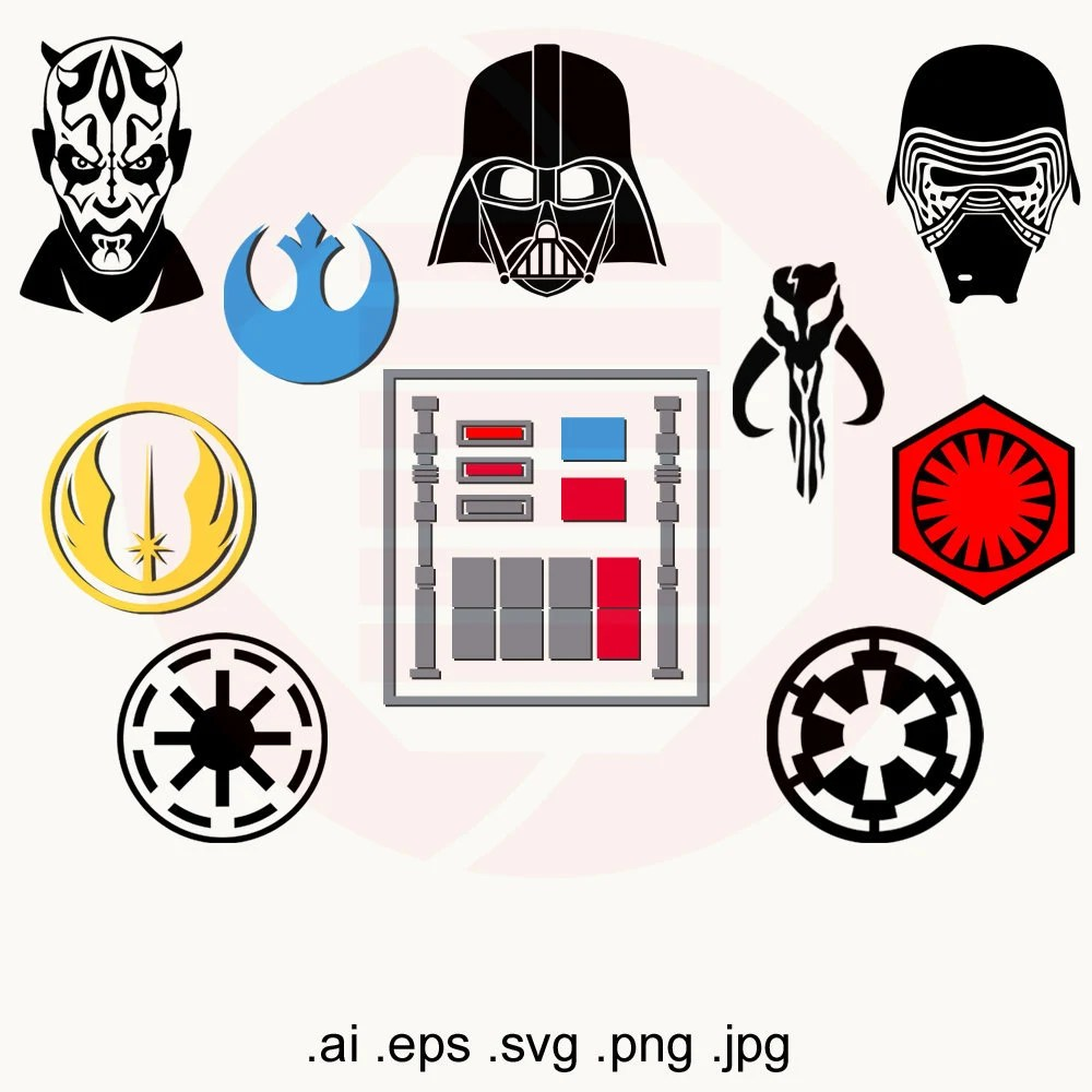 Star Wars SVG clipart digital download Jedi Empire symbol logo Etsy
