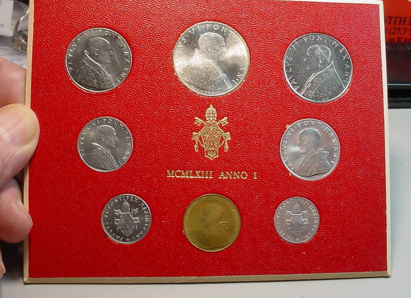 Mint Set Vatican City Mint Set 1963 Pope Paul Iv 8 Coin Set Low Mintage Brilliant Uncirculated Large Coin Is Silver Free S H To U S Et7809