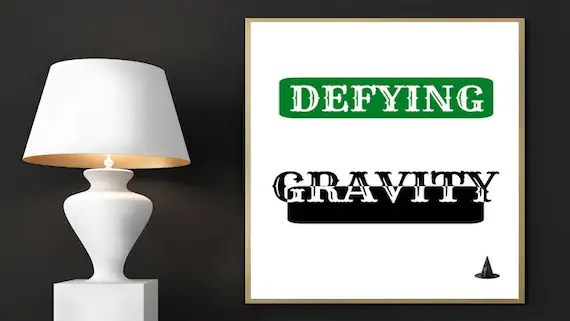 Wicked Digital Print Defying Gravity Broadway Musical Etsy