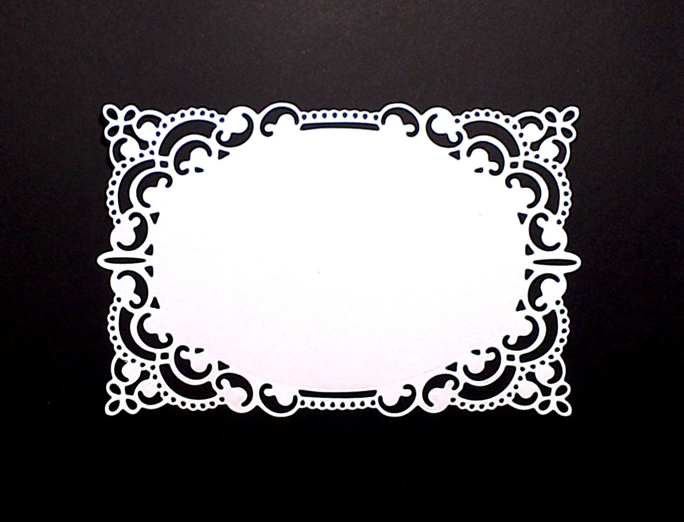 Large Frame Mat 4 Large Lace Rectangle Paper Die Cuts 5 7 8