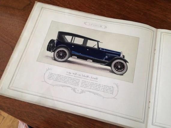 Vintage 1920\u0027s Buick Car Sales Brochure Catalog Antique Etsy