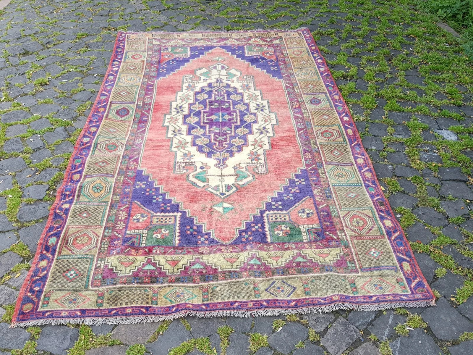 My Home Teppich Turkish Rug Pink Rug Vintage Rug Teppich Turkish Decorative Home Floor Rug Carpet Free Shipping 87x49 Inches Runner Rug