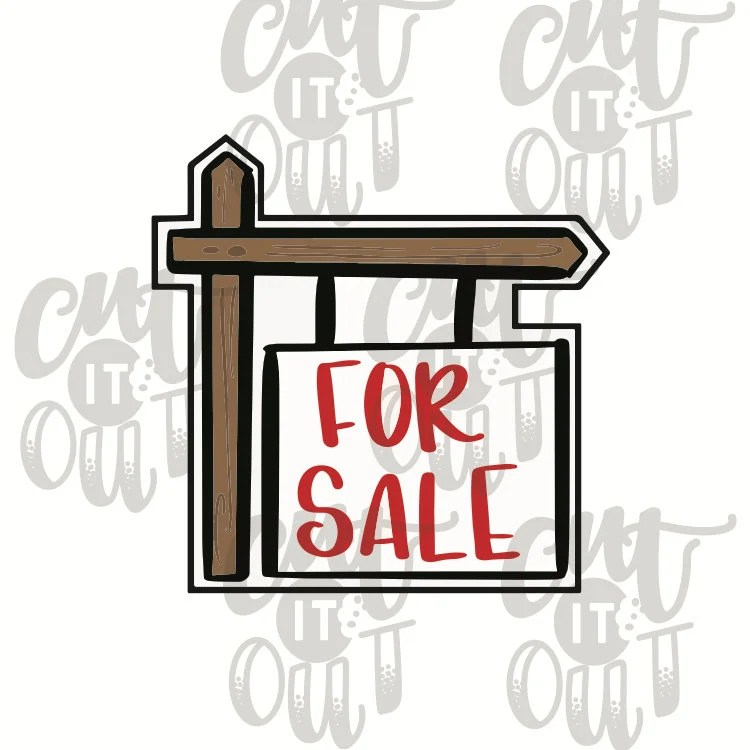 For Sale Sign Cookie Cutter Real Estate Cookie Cutter Sold Etsy
