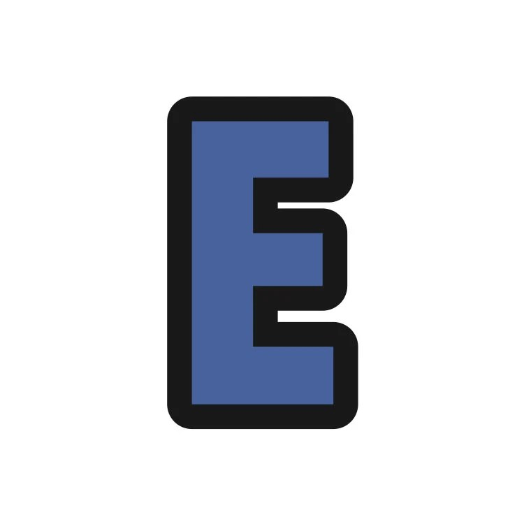 Block Letter E Cookie Cutter Letter E Cookie Cutter Letter Etsy