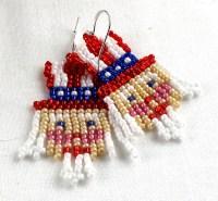 Beaded Uncle Sam Earrings 4th of July Earrings USA ...