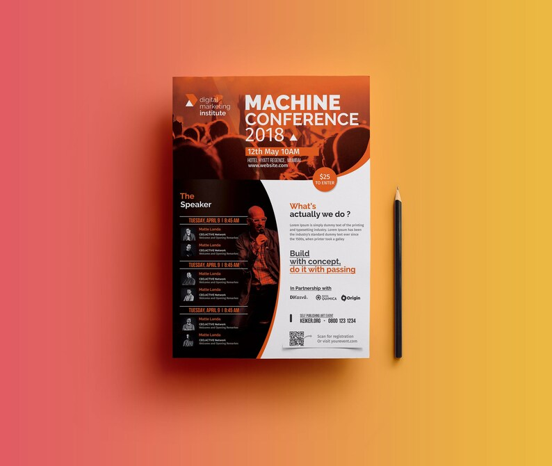 Event Flyer Template Event Poster Conference Flyer Etsy