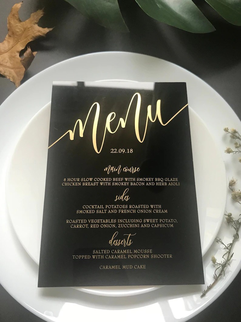 Table Transparente Plexiglass Clear Acrylic Menu Wedding Black White Gold Transparent Perspex Sign Table Numbers Modern Calligraphy Event Food Menu Plexiglass Place Cards