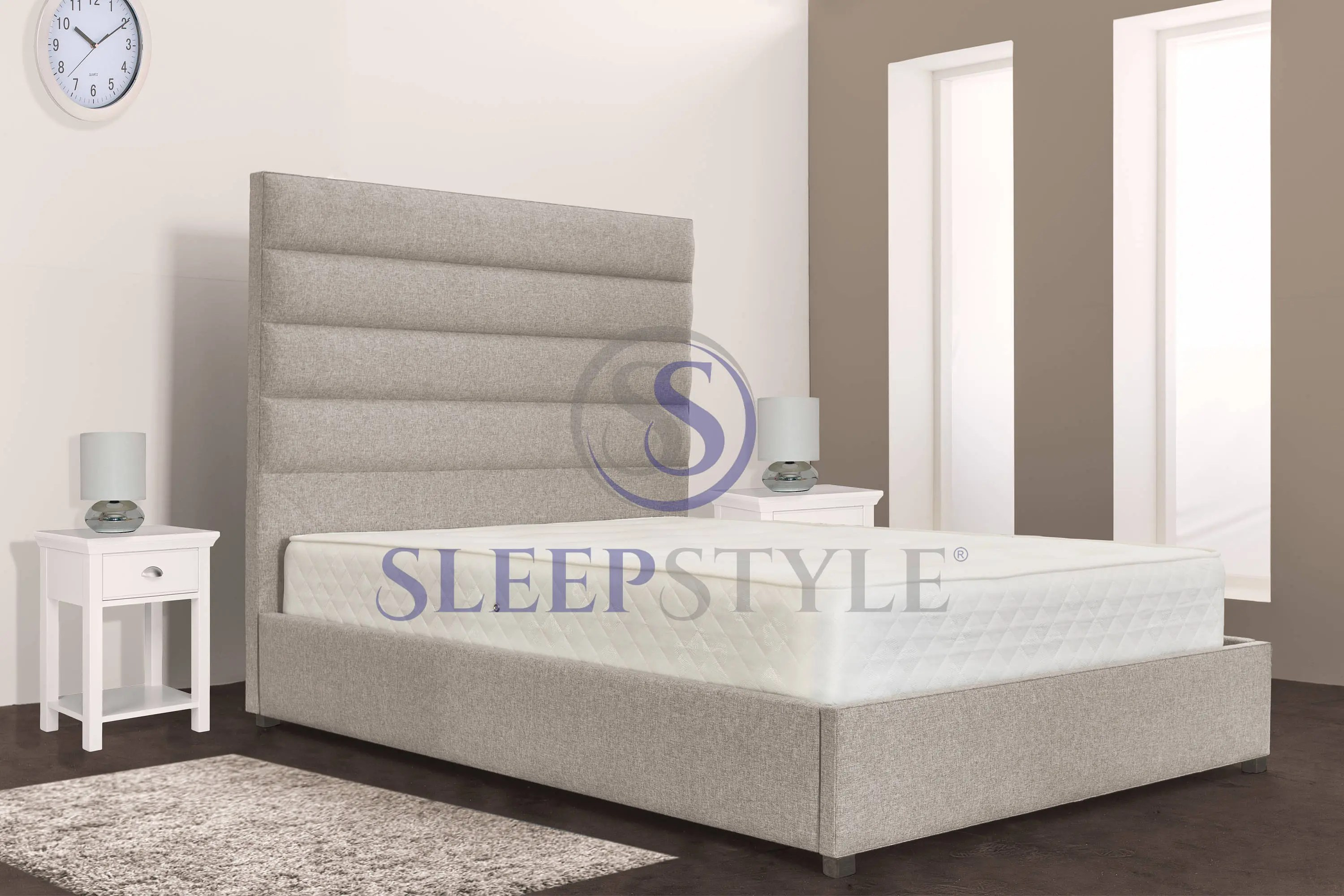 4ft6 Bed Frame Clifton Upholstered Bed Frame All Sizes Choice Of Colours 3ft Single 4ft Small Double 4ft6 Double 5ft Kingsize 6ft Superking