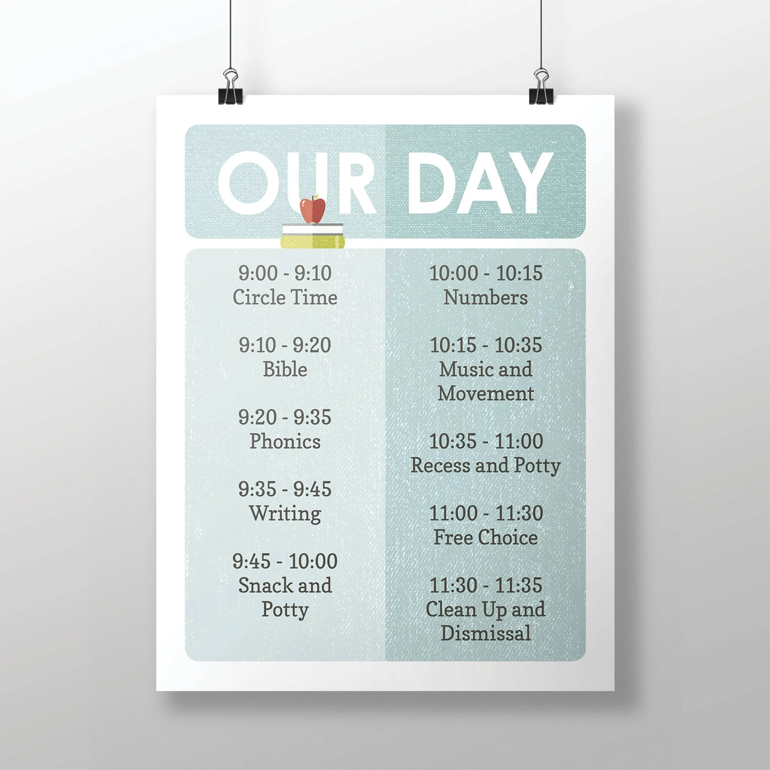 Printable Editable Our Day Classroom and Homeschool Schedule Etsy