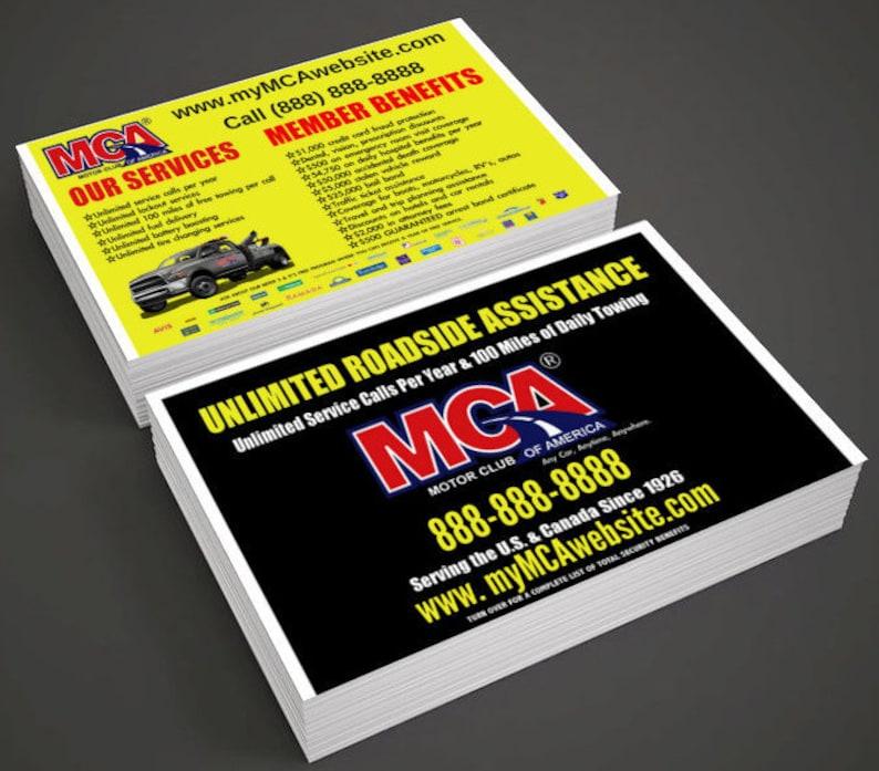 MCA FLYERS Motor Club of America Flyer 1000 Flyer Postcards 4 Etsy