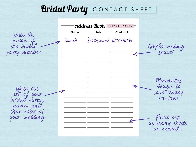 Wedding Address Book Bundle Printable Address Book Etsy