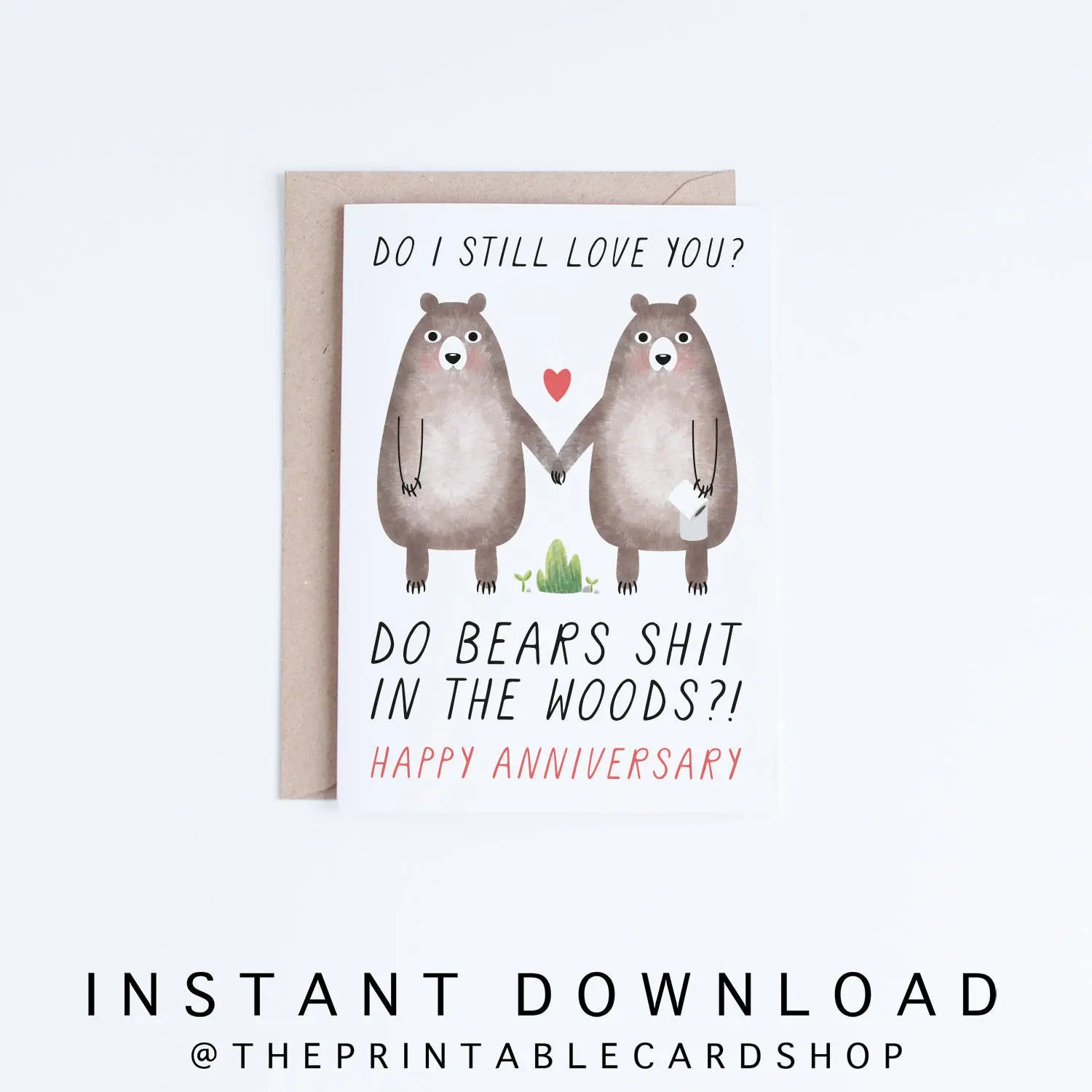 Printable Anniversary Cards Instant Download Funny Etsy