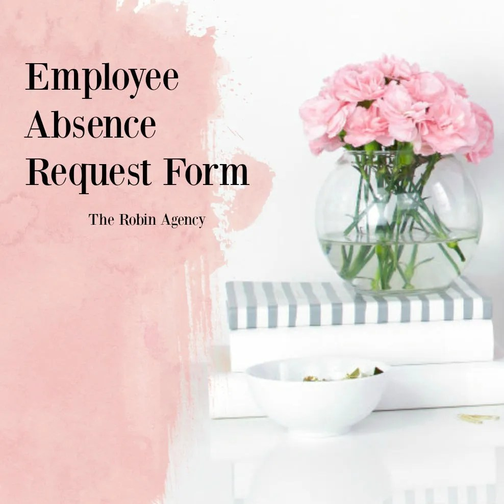 Employee Absence Request/Information Form Template Job Etsy