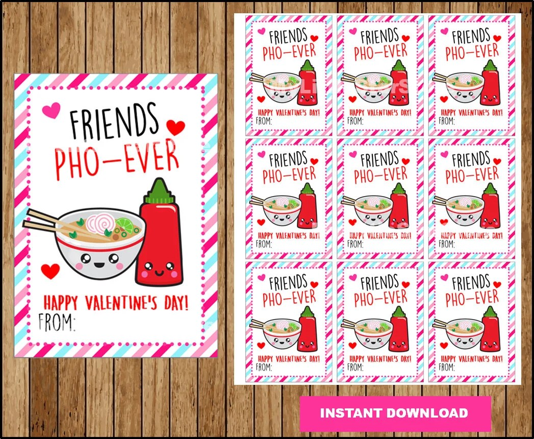 Funny Valentine Cards Best friend card Printable Funny Etsy