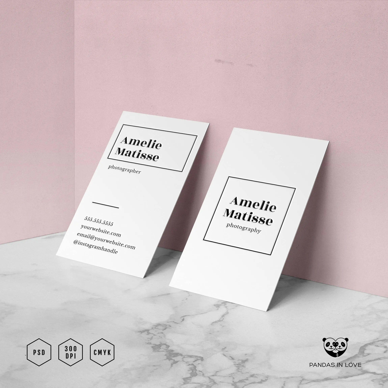 Modern Business Card Design Minimalist Business Card Etsy