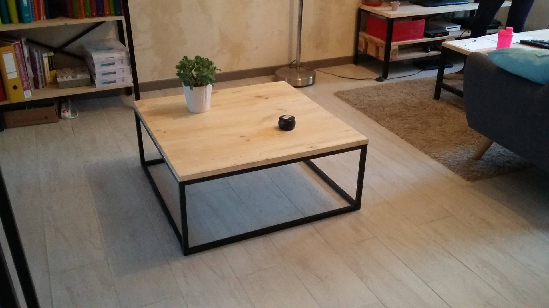 Table Basse Bois Industrielle Table Basse Industriel Etudiantsavecsarkozy
